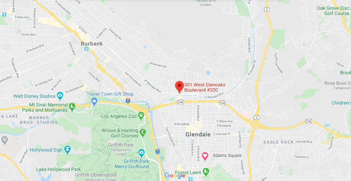 location map of la medical clinic